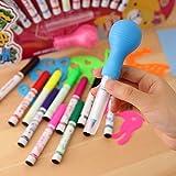 Parteet Set of 12 Magic Spray Blow Marker Pens (Assorted Colors)