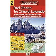 KOKA105 Kombinierte Wanderkarte Drei Zinnen (Kombinierte Sommer-Wanderkarten Südtirol) (Kombinierte Sommer-Wanderkarten Südtirol / Topografische Karte + 3D-Panoramakarte)