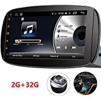 Autoradio Android GPS D-NOBLE Multimedia 9-inch 1024x600 Android 6.0 Car Navigation Stereo For Mercedes-Benz Smart 2015-2016 Radio Auto Bluetooth Touch Screen Mirror Link + I-Safe