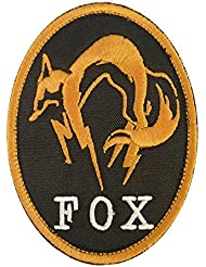 Metal Gear Solid Fox Hound Ground Zeroes PS4 Xbox Cosplay Embroidered Touch Fastener Écusson Patch