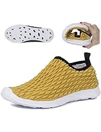 Hishoes Hombres Mujeres Muy Ligero Zapatos de Agua de Playa Unisex Secado  Rápido Descalzo Aqua Zapatos Deportivos para Surf natación… b40f6fbba79
