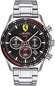 Scuderia Ferrari Men's Black Dial Stainless Steel Watch - 83