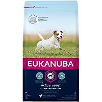 Eukanuba Adult Premium Hundefutter für kleine Rassen mit neuer und verbesserter Rezeptur – Trockenfutter für ausgewachsene Hunde von 1-8 Jahren in der Geschmacksrichtung Huhn – 1 x 3kg Beutel