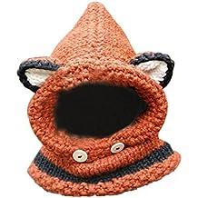 iTemer Punto Lana Gorro otoño e Invierno Babero Sombrero bebé Grueso mantón  Incluso Sombrero cálida Bufanda 10178bdf5d8