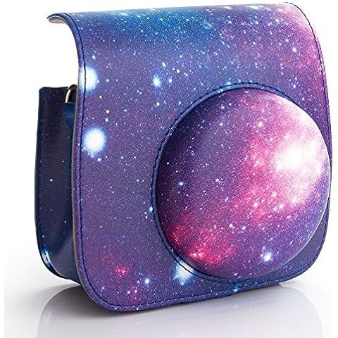 Woodmin Galaxy PU Bolsa de Cuero Protectora para Fujifilm Instax Mini 8 Cámara