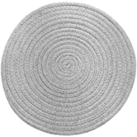 UPKOCH 1 Pieza de 11.81 Pulgadas de Diámetro Utensilios de Cocina de Algodón Taza de Tetera Resistente Al Calor Posavasos (Gris Claro)