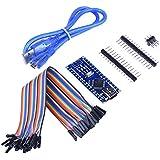Smraza Atmega328p Mini Nano V3.0 5V 16M Micro-controller Board Arduino compatible + USB Cable +Female/Female Jumper Wire compatible with win8 win7