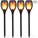 Aityvert Solar Torch Light Upgraded-Flickering Flames Torches Lights-Waterproof Solar Lights Outdoor Landscape Decoration Lighting Dusk to Dawn Auto On/Off for Garden Pathway Driveway 4Pack