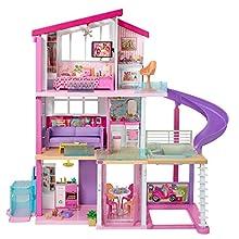 Barbie- Casa dei Sogni per Bambole con Ascensore per Disabili, 3 Piani, Piscina, Scivolo e 70 Accessori, Giocattolo per Bambini 3+ Anni, Multicolore, GNH53