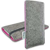 Stilbag Filztasche 'FINN' für Apple iPhone 4/4S - Farbe: hellgrau/pink