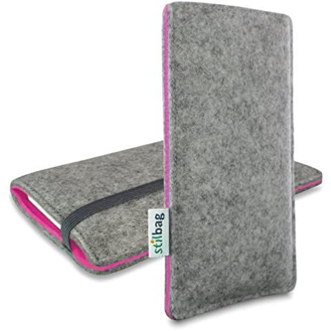 Stilbag Funda de fieltro 'FINN' para Apple iPhone 6 - Color: gris/rosa