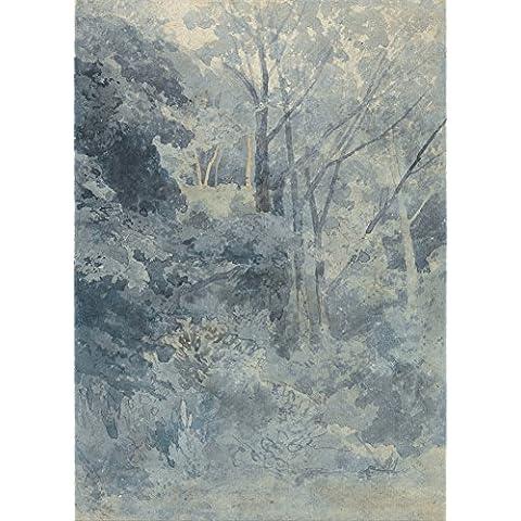 John vender Cotman en parque Rokeby c1800–1810. English 18th-19th Century. Reproducción de póster de 200GSM A3satén seda bajo brillante tarjeta de