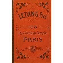 Vintage Letang Fils Paris France Catalog Copy - Chocolate, Ice Cream Molds, Etc. Moule Chocolat (English Edition)