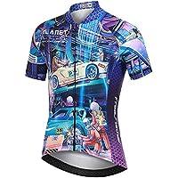 LSHEL Camiseta de Ciclismo para Niños Maillot Bicicleta con Mangas Cortas, Coche de Carreras, 8-9años/EU: M(Etiqueta: L)