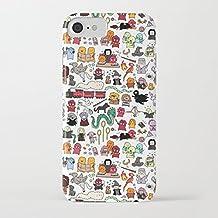 Funda iPhone 7 Funda iPhone 8 Casas de Harry Potter Estuche de Silicona,TPU Diseño impreso + delgado anti-arañazos Suave Jelly Crystal Silicona Cáscara Dibujos animados Patrón