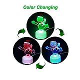 onivib USB Powered LED Mini luz cambio de color de Navidad muñeco de nieve