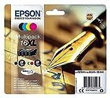 Epson Original C13T16364012 Tintenpatrone Füller, wisch- und wasserfeste Tinte XL (Multipack, 4-farbig) (CYMK)