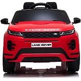 TOYSCAR electronic way to drive Auto Macchina Elettrica Range Rover Evoque 12V per Bambini Sedile in Pelle Porte apribili con
