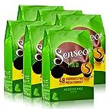Senseo Kaffeepads Mild Roast, Feiner und Samtweicher Geschmack, Kaffee, neues Design, 6er Pack, 6 x 48 Pads