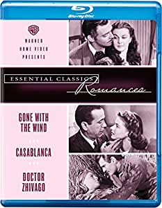 Essential Classics Romances: 3 Movies Collection - Gone With the Wind + Casablanca + Doctor Zhivago (3-Disc Box Set)