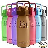 HoneyHolly Sports Trinkflasche Wasserflasche - 32oz/1L & 50oz/1.5L Top klick Open, Non Toxic BPA Free & Eco-Friendly Tri