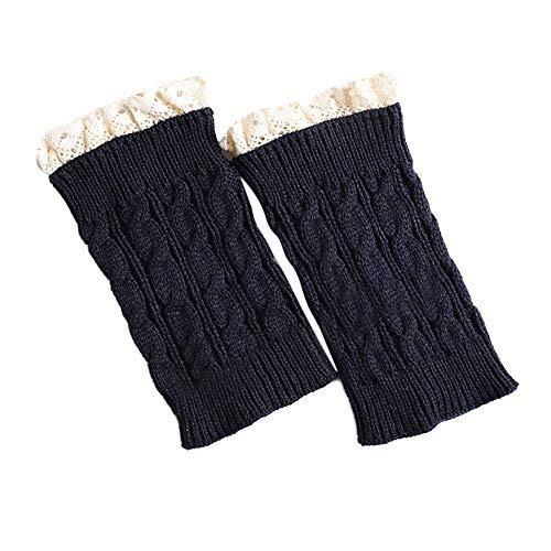 BZLine Frauen Mädchen Lace Crochet Knit Trim Boot Manschetten Toppers Beinwärmer Socken Leggings Hohe Qualität Casual Frauen Warme Winter Klassische Stricken Beinlinge Verkaufsförderung - Mädchen Lace Trim Leggings