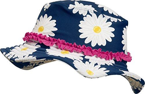 Playshoes Mädchen Mütze UV-Schutz Sonnenhut Margerite Blau (Marine 11) 51