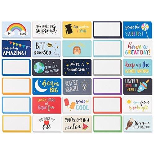 Best Paper Greetings 60 Stück Lunchbox-Notizen, Bunte Inspirierende und motivierende Karten für Kinder, 10 x 6 cm