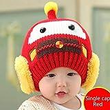 zyl Herbst Winter Dicke Warme Wolle Ohrenschützer Baby Hüte Schals Handschuhe Dreiteilige Anzug Zusammen,RedA-47cm*53cm