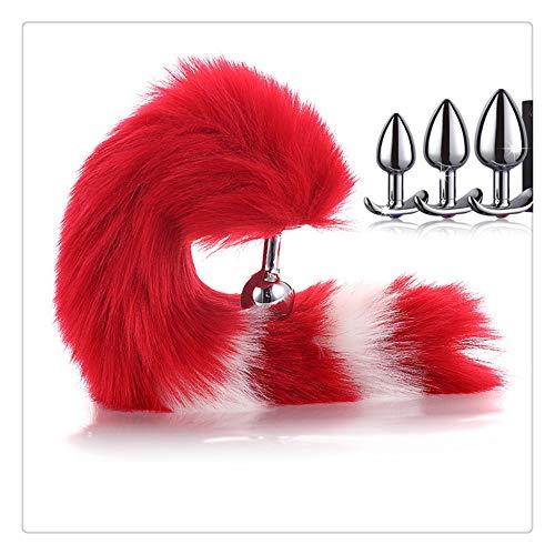 Z-one 1 Fox Red Haarschwanz, 3 Stück Größe P-Anstoß ohne Katzenohren-Stirnband Kopfschmuck