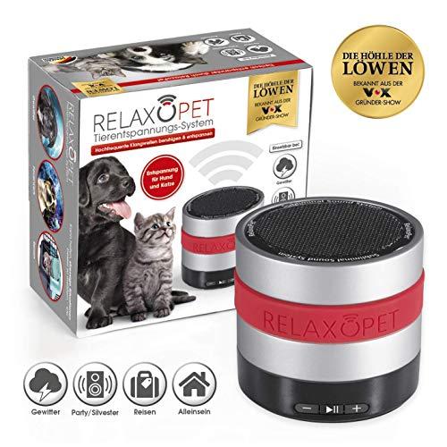 RelaxoPet Tierentspannungs-Trainer | Version für Hund & Katze | Beruhigung durch Klangwellen | Ideal bei Gewitter, Feuerwerk oder auf Reisen | Hörbar und unhörbar | 5V, kabellos -