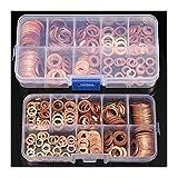 Harddo - Set di 200 rondelle in rame, M5-M14, dadi di tenuta e bulloni in rame, rondelle per viti di fissaggio