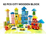Pepperonz Wooden 62 pcs of colourful woo...
