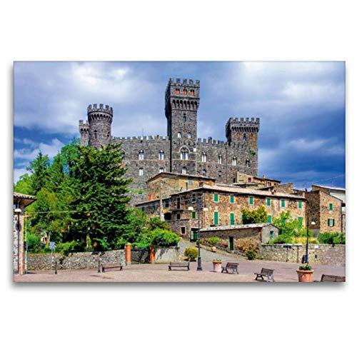 Premium Textil-Leinwand 120 x 80 cm Quer-Format Castello di Torre Alfina | Wandbild, HD-Bild auf Keilrahmen, Fertigbild auf hochwertigem Vlies, Leinwanddruck von LianeM