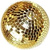 Present Simple 6-delige set discoballen met kleine spiegels diameter 6 cm goud