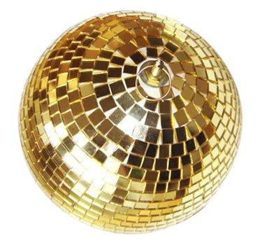 Present Simple 6-Teiliges Set Discokugeln mit Kleinen Spiegeln Durchmesser 6cm Gold