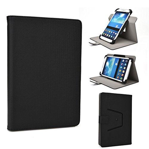Toshiba Zoll 10 Tablet Cover (Kroo 360Rotation Premium Qualität PU Leder Ständer Schutzhülle Passt Android-Tablets für Alcatel OneTouch PIXI 3(20,3cm) schwarz schwarz)
