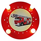 Elobra Deckenleuchte Feuerwehrauto 127223 für Elobra Deckenleuchte Feuerwehrauto 127223
