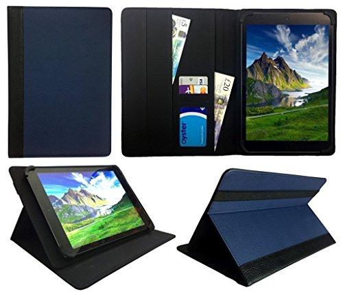 Sweet Tech Odys Ace 10 Tablet 10.1 Zoll Blau mit Schwarzer Trimmen Universal Wallet Schutzhülle Folio (10-11 Zoll (Ace Magnetics)