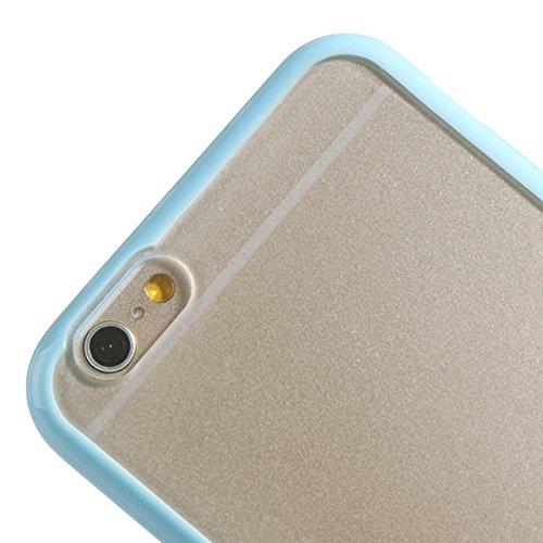 Wkae Case & Cover TPU Bumper cadre Case + mat en plastique transparent pour iPhone 6 & 6S ( SKU : S-IP6G-0123W ) S-IP6G-0123L