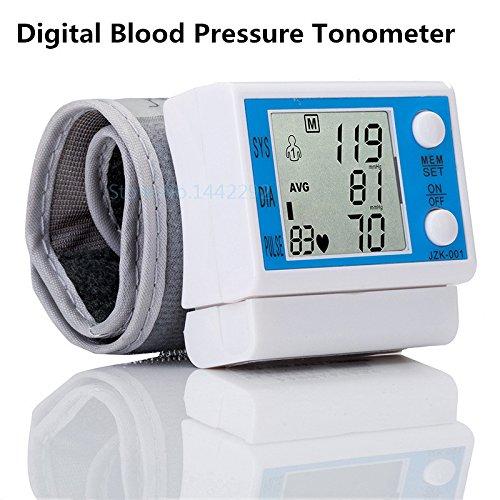 LiuHanQing Monitor de presión arterial Health Inicio Tonómetro Automático Lcd Digital De Muñeca Monitor De Presión Arterial De Instrumento Portátil Para Medir La Frecuencia Cardíaca