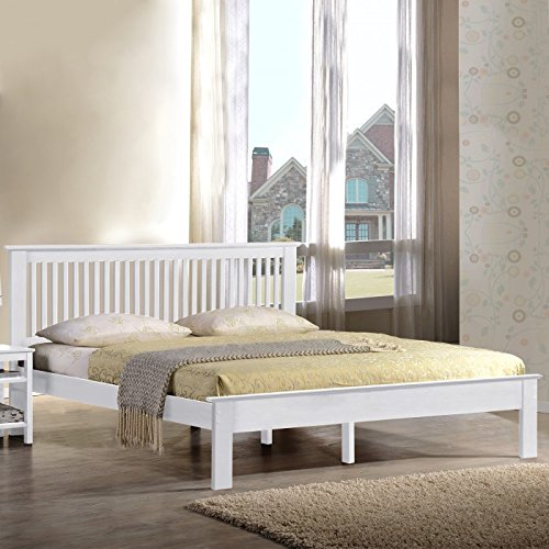 Hf4you Windsor Wooden Bed Frame - 4FT6 Double - White