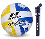 Nivia Kross World Volleyball and Nivia Ball Pump Double Action