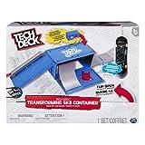 Tech Deck Transforming Skate Container Skate Park Set - Piezas y Accesorios para minimonopatines y minibicicletas para Dedos (Skate Park Set, Azul, Gris, Rojo, Imagen, Niño, 6 año(s), 750 g)