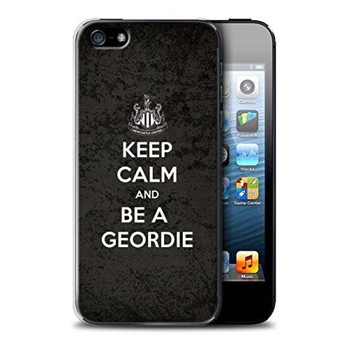 Officiel Newcastle United FC Coque / Etui pour Apple iPhone 5/5S / Soutien Design / NUFC Keep Calm Collection Geordie