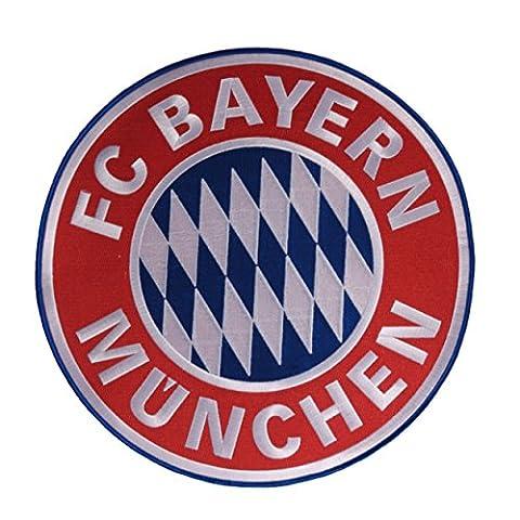 Fc Bayern München Aufnäher / Patch Logo groß FCB plus gratis Aufkleber forever München Ø 9,5 cm