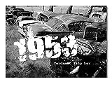 DigitalOase Glückwunschkarte 1953 65. Geburtstag Jubiläumskarte 65. Jubiläum Geburtstagskarte Grußkarte Format DIN A4 A3 Klappkarte PanoramaUmschlag