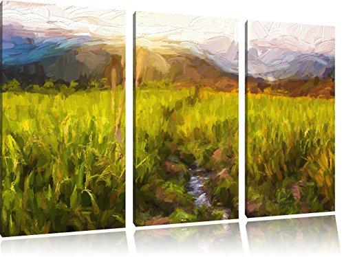 paddy-plantation-en-asie-art-brush-effect-3-pc-image-toile-limage-120x80-sur-toile-xxl-normes-photos