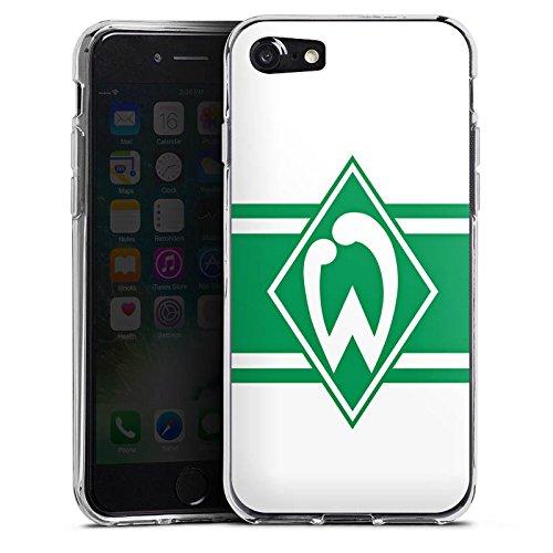 Apple iPhone X Silikon Hülle Case Schutzhülle Werder Bremen Wappen gestreift Fanartikel Silikon Case transparent