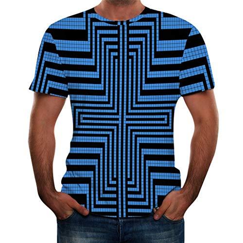 TWISFER Herren Druck T-Shirt 3D Muster Shirt Kurze Ärmel Grafik Spaß Motiv Tops Kurzarmshirt Sport Oberteile Print Basic Hemd Casual Sommer Lässige - Slim-tee-20 Beutel